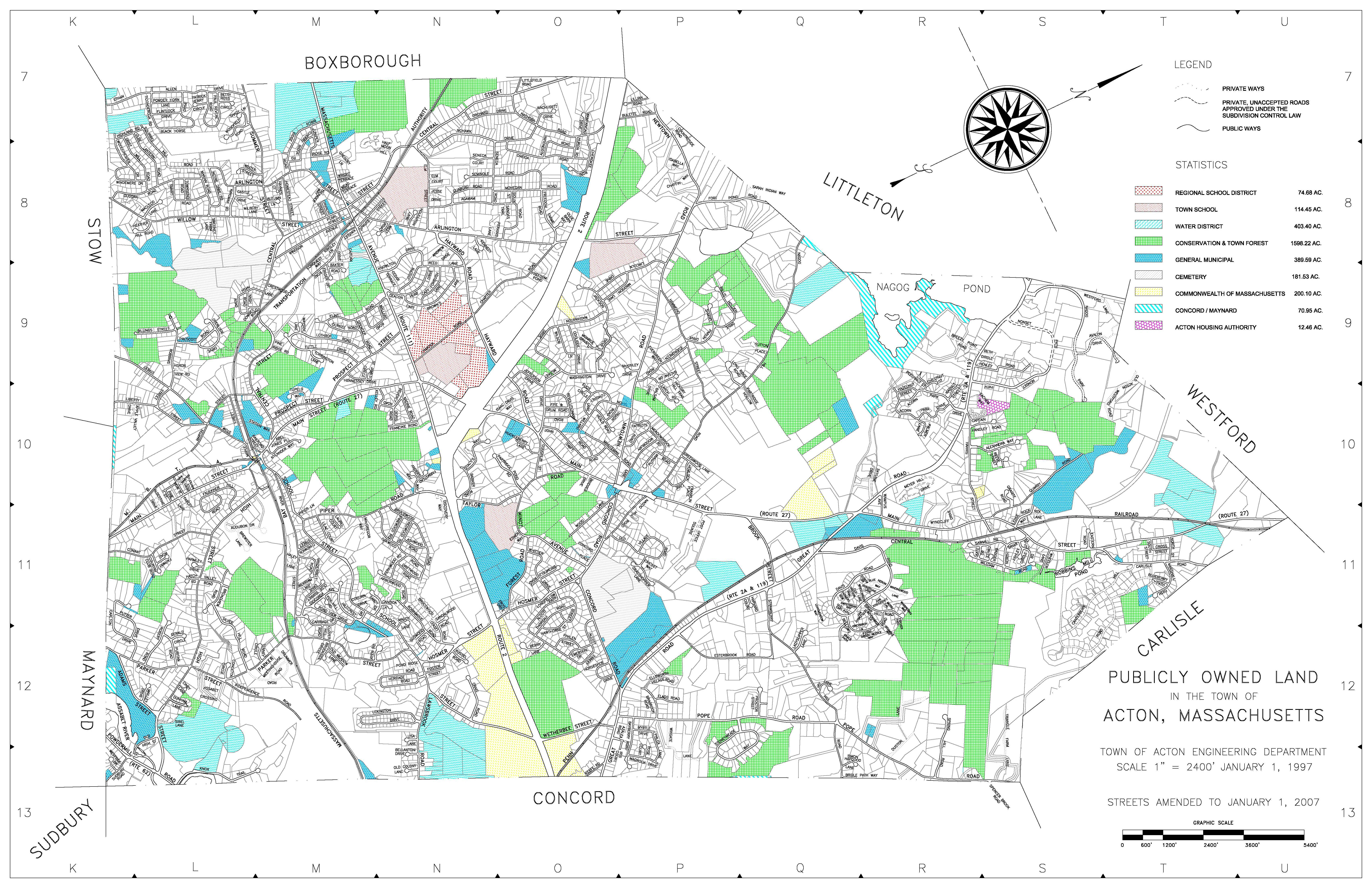 Town Maps Acton MA Official Website - Maps of ma