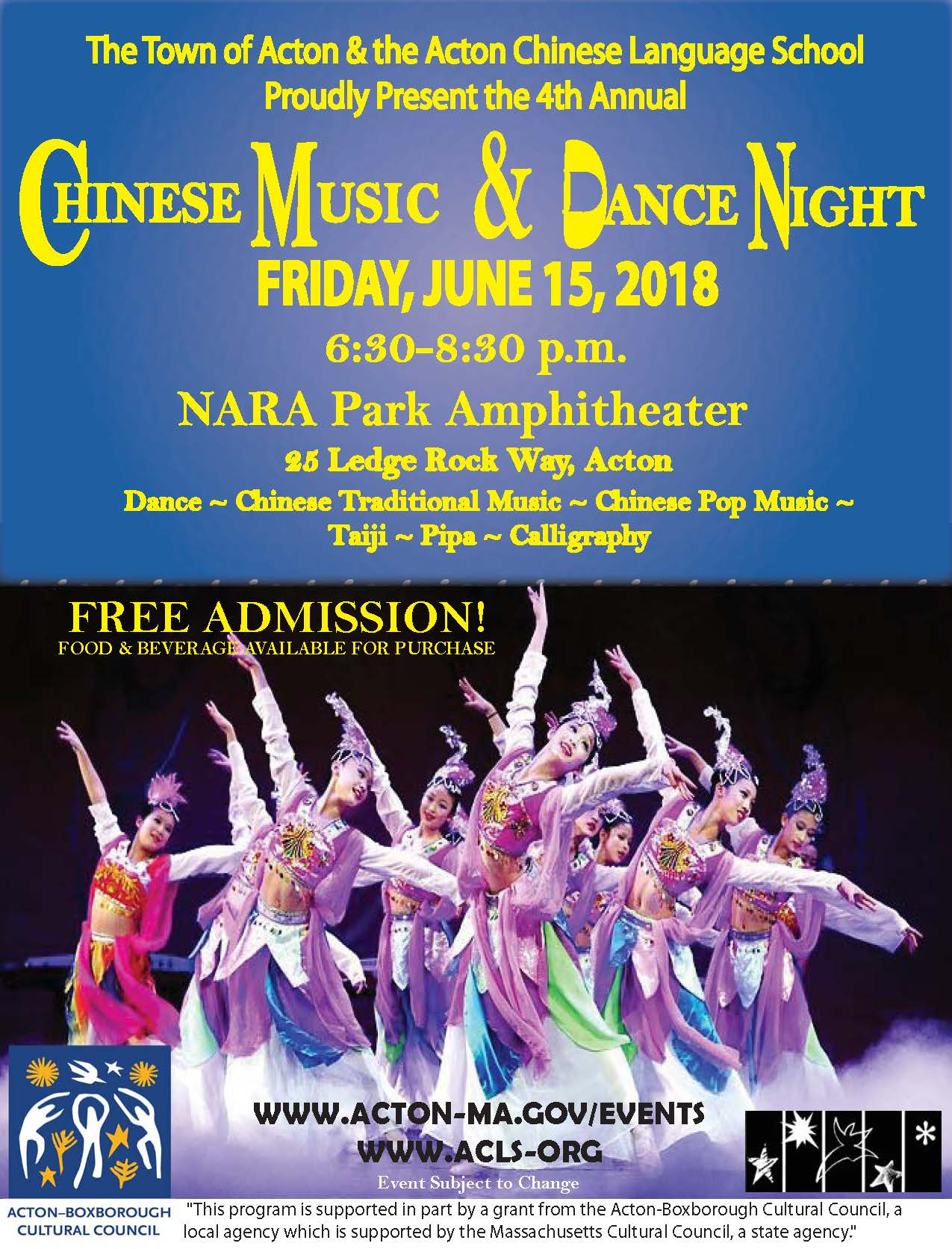 Chinese Music and Dance Night 2018