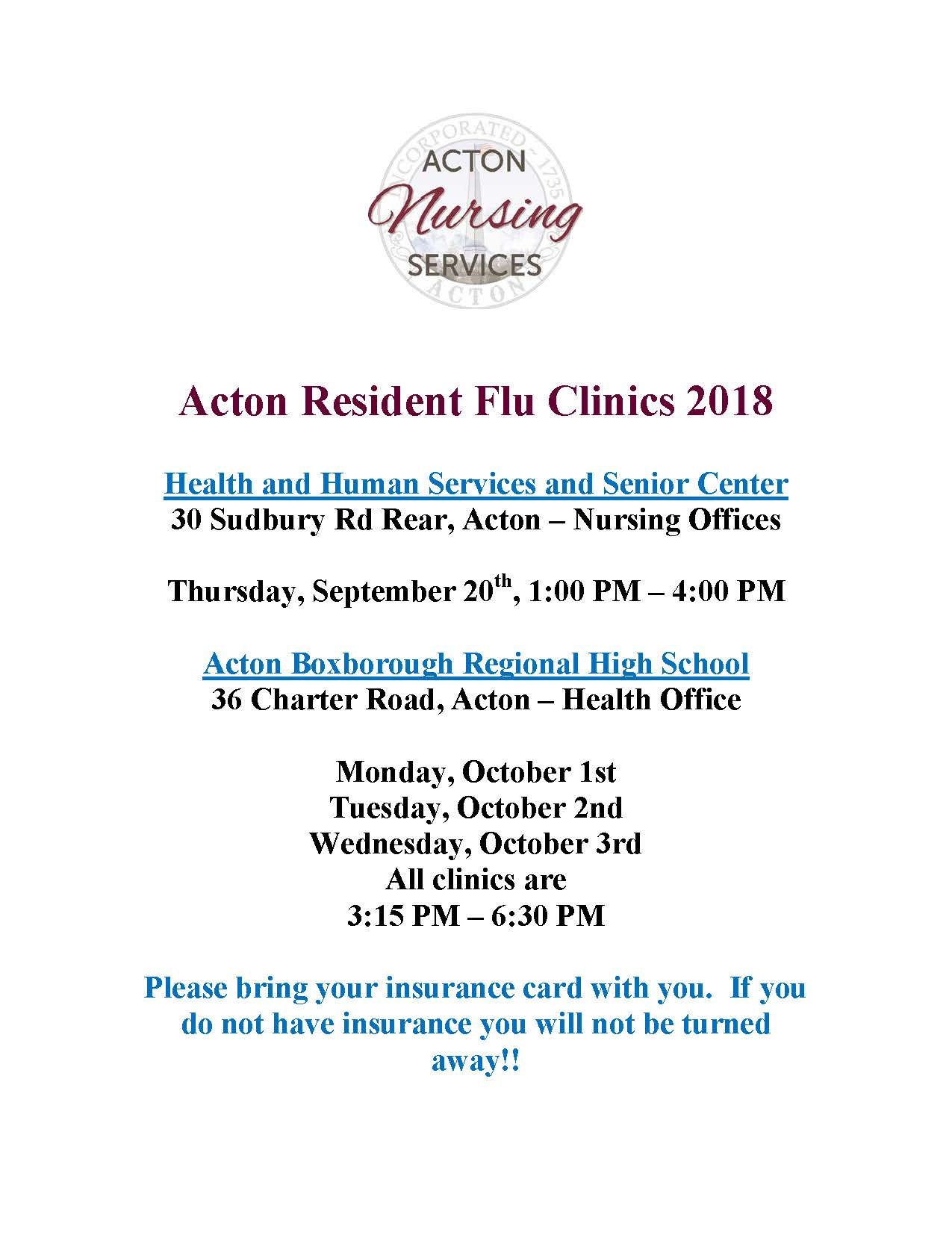 Acton Flu Clinic