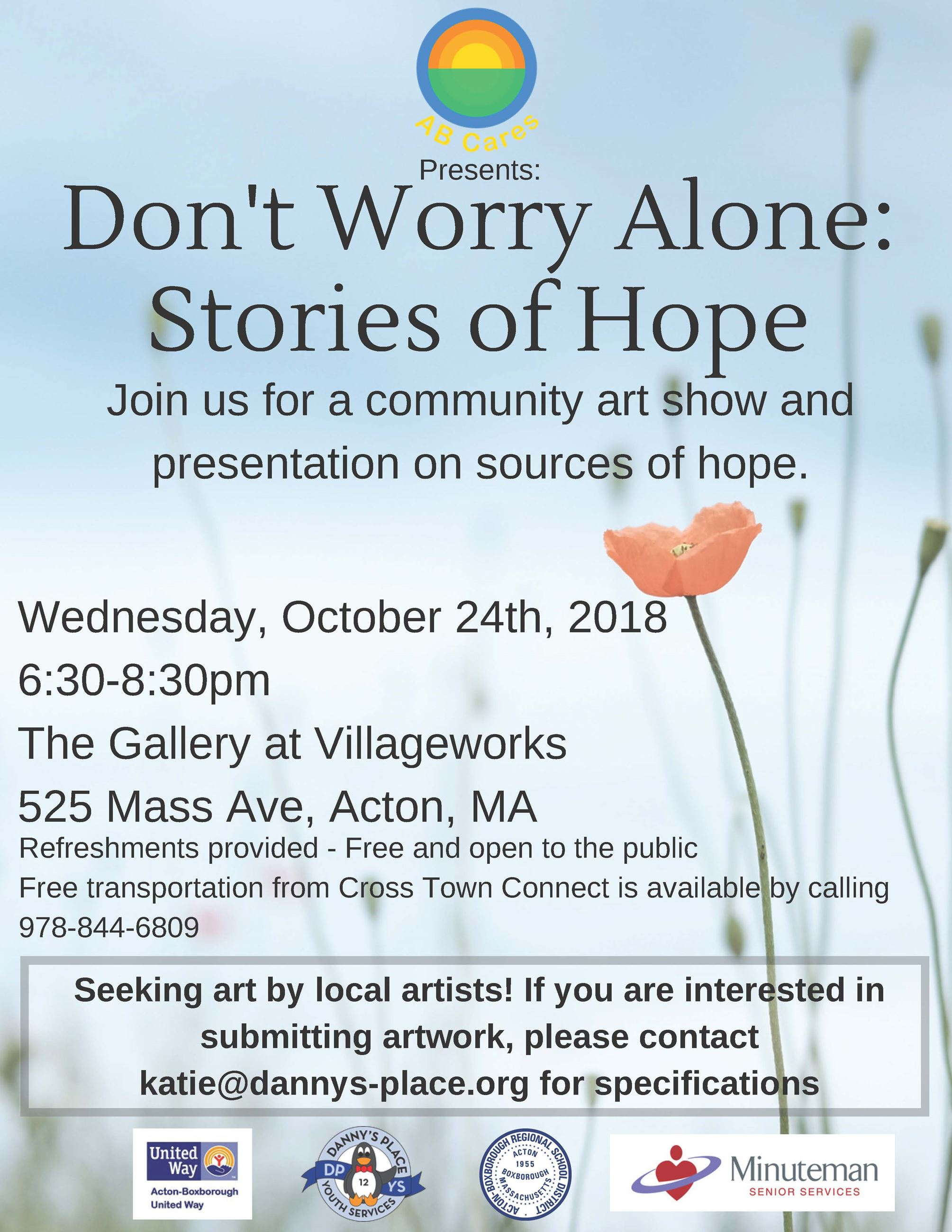 Dont Worry Alone Stories of Hope Flyer V4
