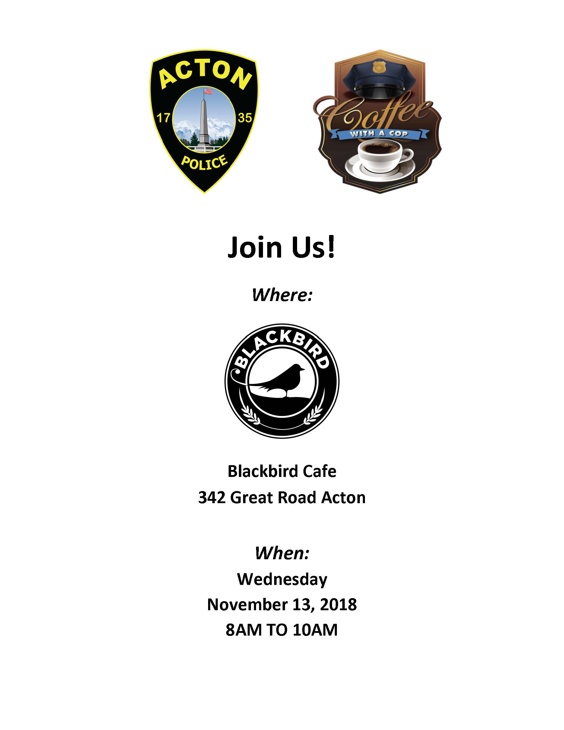 2018 Nov Coffee with a cop