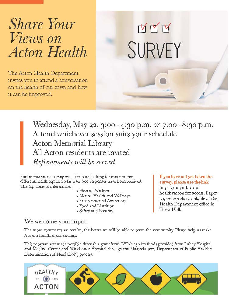 Acton Health SurveyConversation