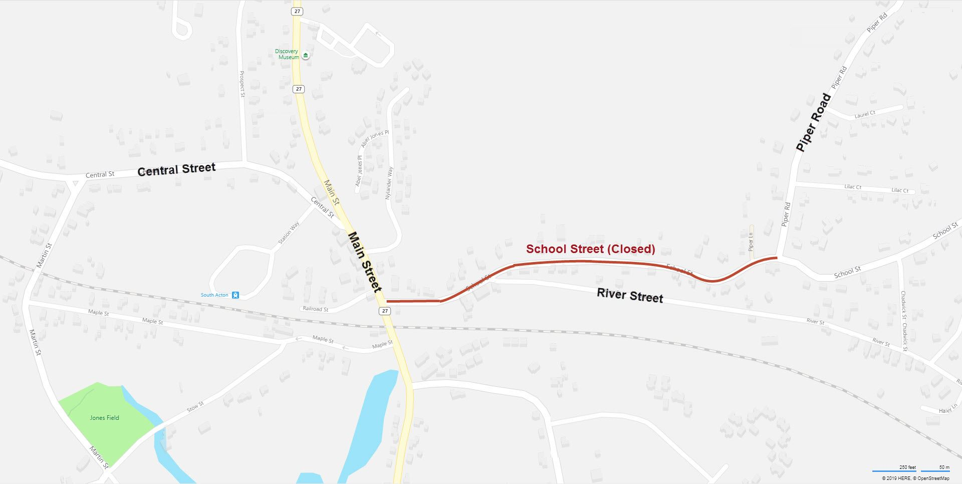 School Street Road Closure