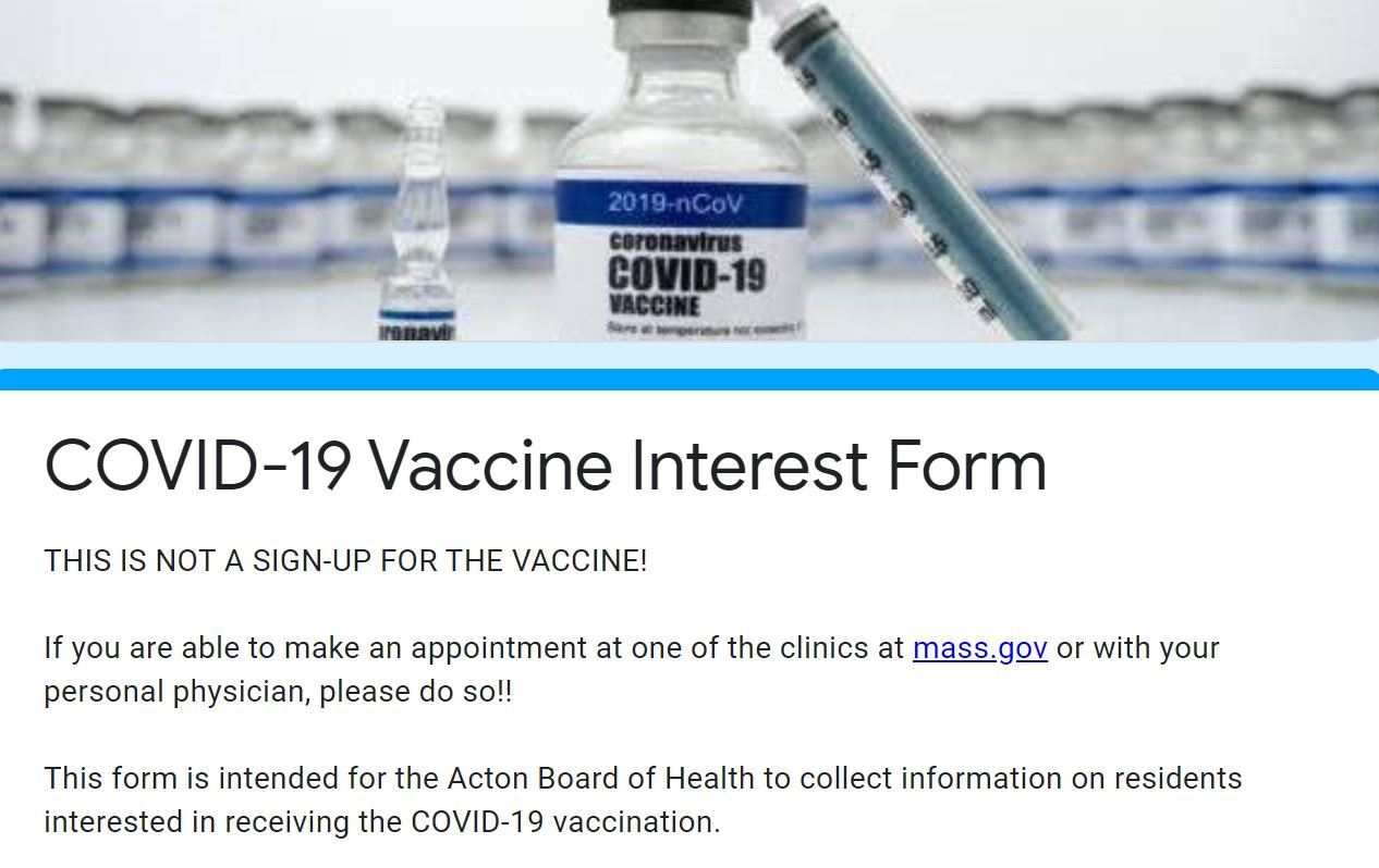 vaccine information form